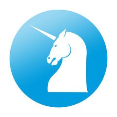 Etiqueta redonda unicornio