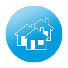 Etiqueta redonda inmobiliaria