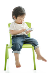 Little boy with smart phone