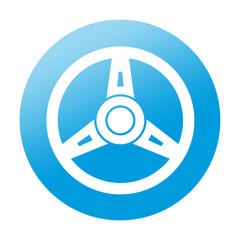 Etiqueta redonda volante