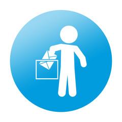Etiqueta redonda voto