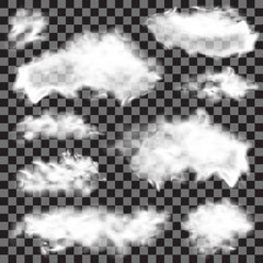Realistic  fluffy clouds.