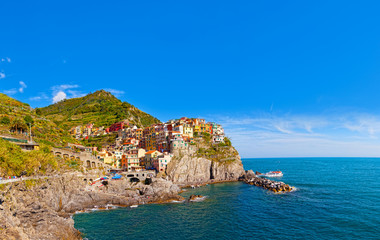 Picturesque view of Manarola, Laguria, Italy