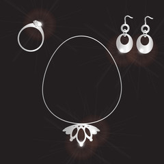 lady jewels set eps10