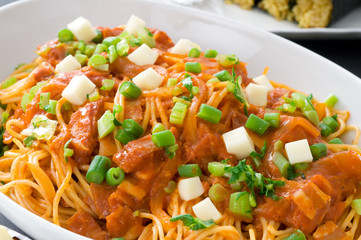 スパゲッティー ナポリタン 大皿料理