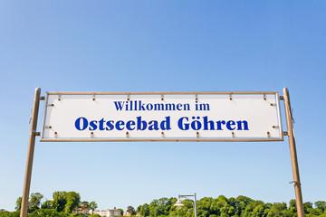 Pier sign, Göhren, Rügen