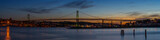 Panorama of Angus L. Macdonald Bridge that connects Halifax to D - 66430126