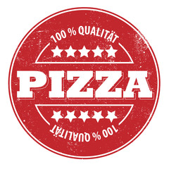 PIZZA 100 % Qualität! Button, Icon