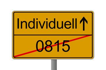 Verkehrsschild Individuell