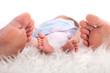 Füße Baby und Eltern