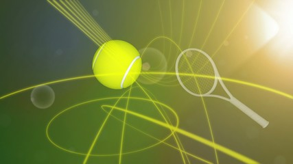 Tennis tournament promo.