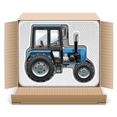 Vector Toy Tractor in Box