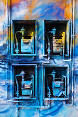 Abstract Coloured Gas Meters