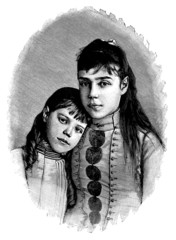 2 Young Girls - 19th century