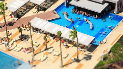 Pool Time Lapse Tilt Shift