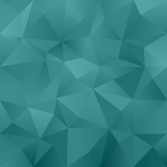 Green blue abstract irregular triangle pattern background
