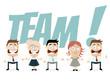 business team cartoon mann frau