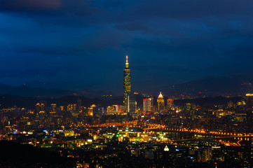 Night scene of Taipei city