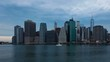 Sunrise timelapse of Manhattan skyline in new york - USA