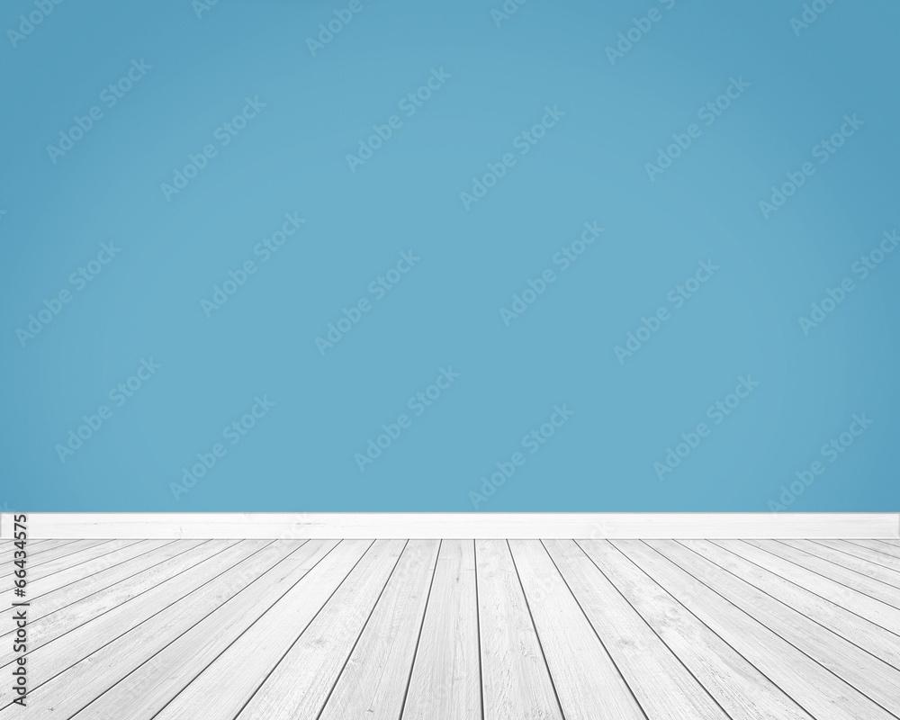 drewno ściana niebieski - powiększenie