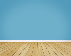 empty room, wooden floor
