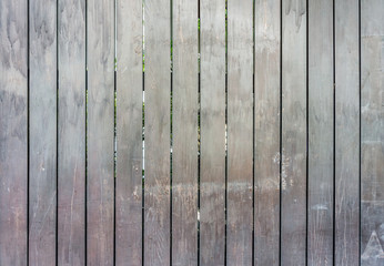 The wooden fence constructed with plank of wood