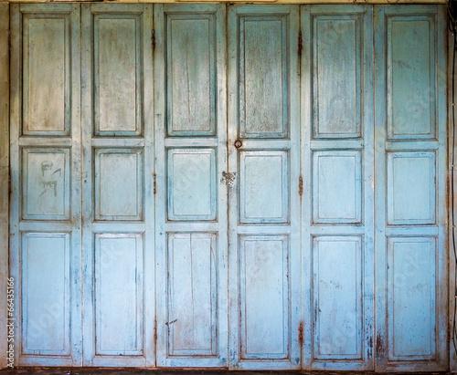 An old wooden doors - 66435166