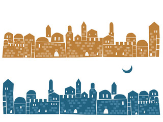 Middle East Town , Illustration