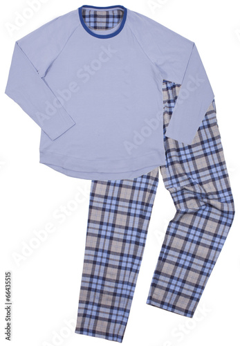 Blue children's pajamas. Isolated on a white - 66435515