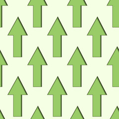 Green Up Arrows Seamless Background