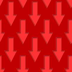 Red Down Arrows Seamless Background