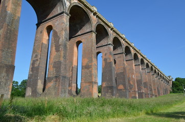 Brick arches on railway viaduct.