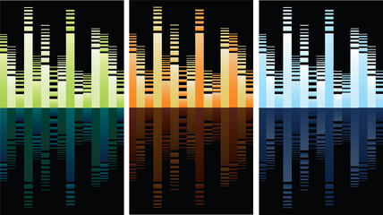 multicolored equalizer on black, vector