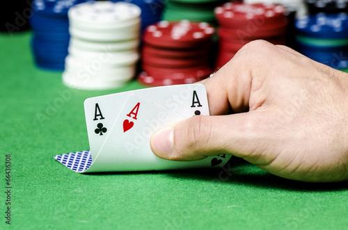 Double ace in poker Obraz na płótnie
