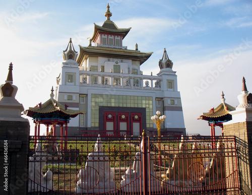 Leinwandbild Motiv Golden Abode of Buddha Shakyamuni
