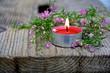 Entspannung.....Teelicht mit Blüten