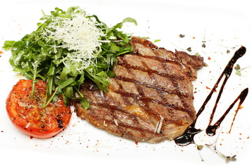 Gourmet grilled steak, restaurant food