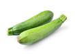 fresh vegetable zucchini isolated on white background