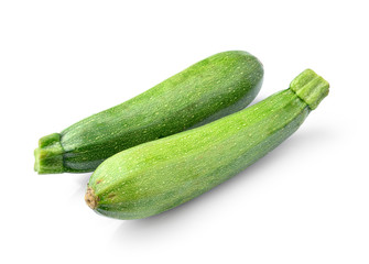fresh vegetable zucchini isolated on white background