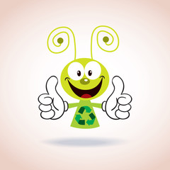 recycle mascot cartoon character