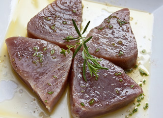 Marinierte Thunfisch-Filets