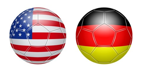 Football. USA - Germany
