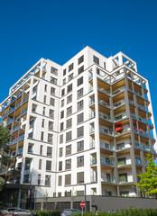 Big apartment house seen in Berlin