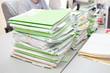 folders on desk