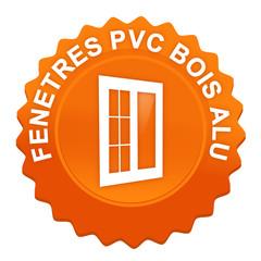 fenêtres pvc bois alu sur bouton web denté orange