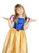 pretty little blond girl in snow white costume