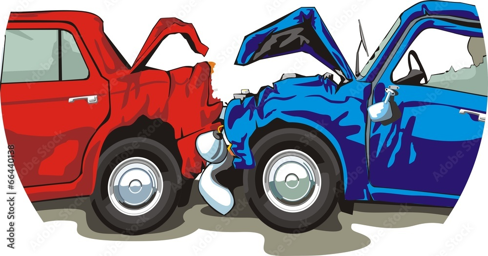 samochód konflikt szkoda - powiększenie