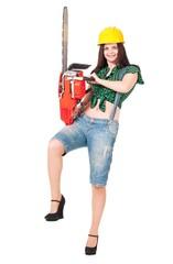 Girl lumberjack