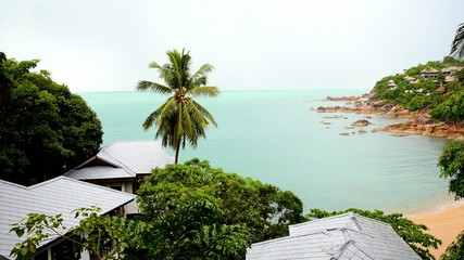 Sea View from Luxurious Holiday Beach Villas. Thailand.