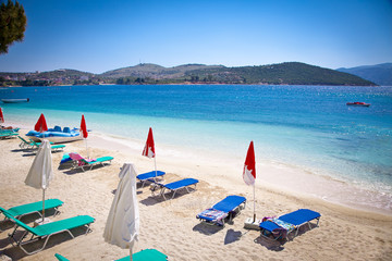 Beautiful Ksamil beach in Albania.